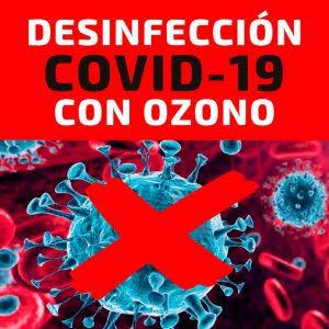 Imagen cartel desinfección con ozono COVID-19